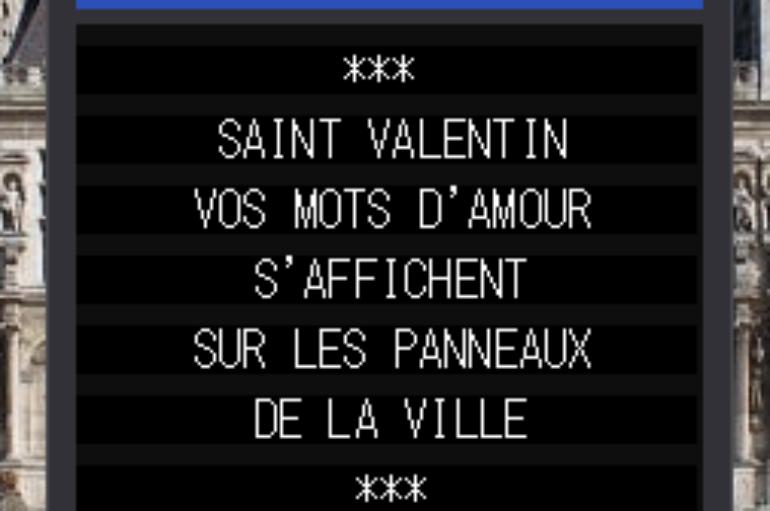 La Saint Valentin s'affiche en ville à Sarlat